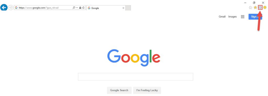 Reset Internet Explorer Step1