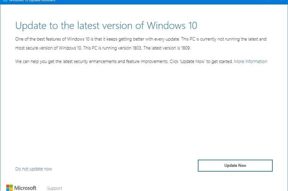 Upgrade Windows 10 Fast Using WUA Tool From Microsoft